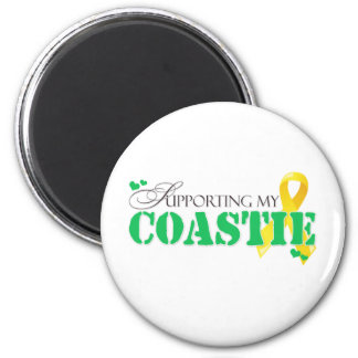 Supporting My Coastie 6 Cm Round Magnet