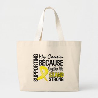 Supporting My Cousin We Stand Strong - Military Jumbo Tote Bag