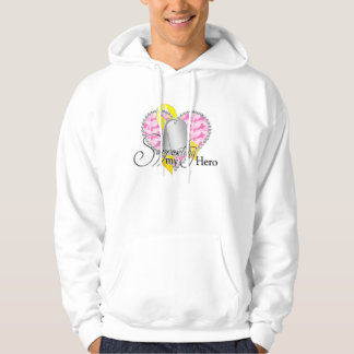 supporting my hero(pink) hooded pullover