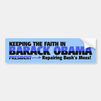 SUPPORTING PRESIDENT OBAMA BUMPER STICKER