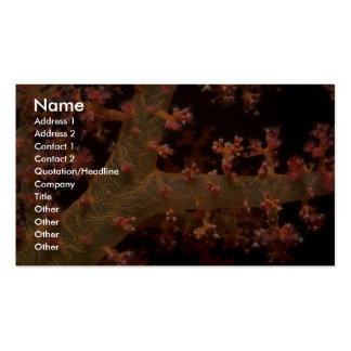 Supporting spicules of a soft coral tree business card