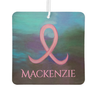 Supportive Auto | Name Bold Pink Breast Cancer Car Air Freshener