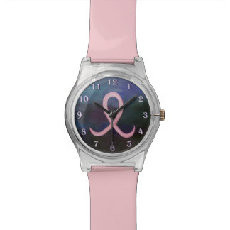 Supportive Bling | Soft Pink Breast Cancer Ribbon Wrist Watch