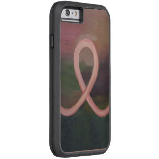 Supportive Rustic Breast Cancer Awareness Ribbon Tough Xtreme iPhone 6 Case