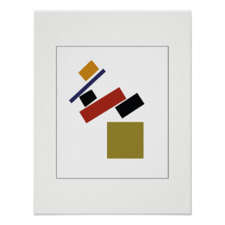 Suprematism by Kazimir Malevich Poster