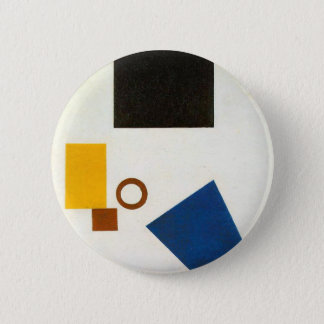 Suprematism. Self Portrait in two dimensions 6 Cm Round Badge