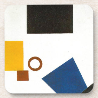 Suprematism. Self Portrait in two dimensions Drink Coasters