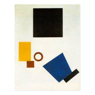 Suprematism. Self Portrait in two dimensions Postcard