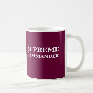 Supreme Commander Gifts Basic White Mug