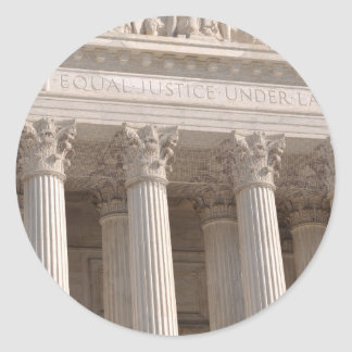 Supreme Court of the United States Classic Round Sticker