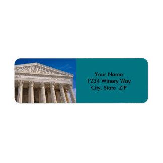 Supreme Court of the United States of America Return Address Label