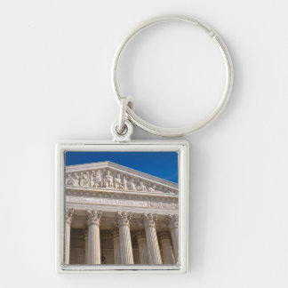 Supreme Court of the United States of America Silver-Colored Square Key Ring