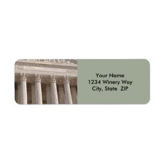 Supreme Court of the United States Return Address Label