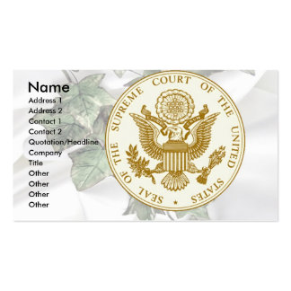Supreme Court Seal on Ivy & Satin Business Card Templates