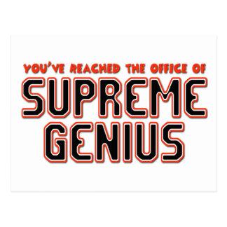 Supreme Genius Postcards