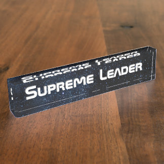 Supreme Leader Name Plate