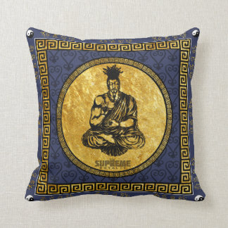 Supreme Royalty First Buddhist Pillow(Blue,Gold) Cushion