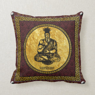 Supreme Royalty First Buddhist Pillow(Brown,Gld) Cushion