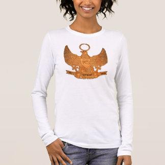 Supreme Royalty Het Heru Long Tee(White,Gold) Long Sleeve T-Shirt