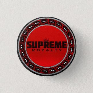 Supreme Royalty Logo Button (Red/Black/Silver)