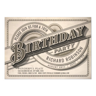 Supreme Vintage Birthday Party Invitations