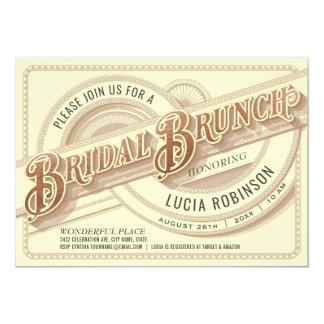 Supreme Vintage Bridal Brunch Invitations Foil