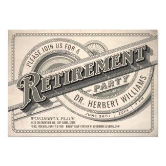 Supreme Vintage Retirement Party Invitations