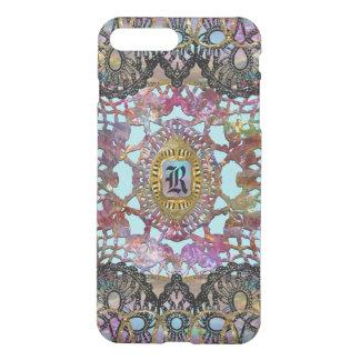 Suprine Unique Girly Baroque Monogram iPhone 7 Plus Case