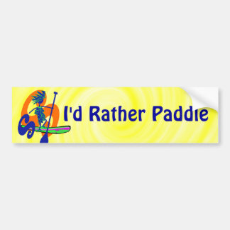 SUPS I'd Rather Be Paddling Bumper Sticker