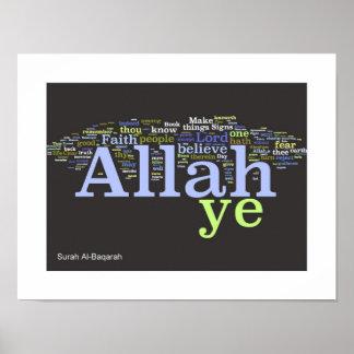 Surah Al-Baqarah Wordle Print