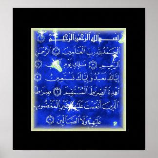 Surah Al Fatihah Quranic Islamic art Print