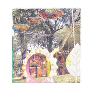 Suraj Kund Festival Outdoor party tree decorations Notepad
