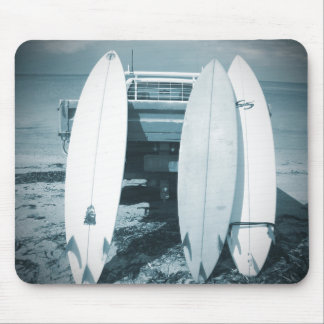Surf 3 surfboards quiver blue surfboard surfing mouse pad
