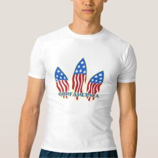 Surf America Hawaiian Surfboard Graphic Rash Guard T-Shirt