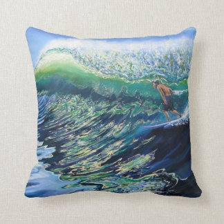 Surf Art Reversible Pillow Cushion
