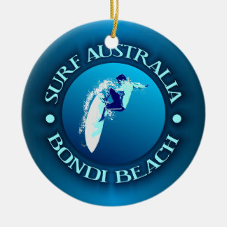 Surf Australia (Bondi) Ceramic Ornament