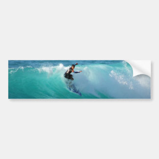 Surf Background Bumper Stickers