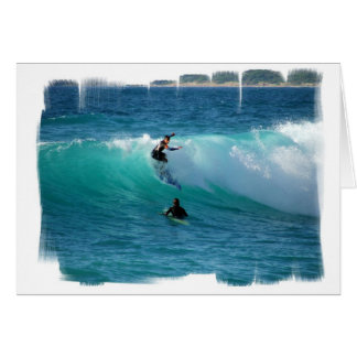 Surf Background Greeting Card