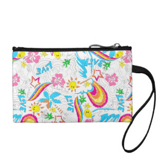 Surf beach love coin purse