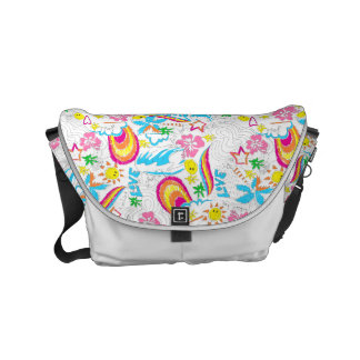 Surf beach love courier bag