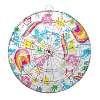 Surf beach love dartboard