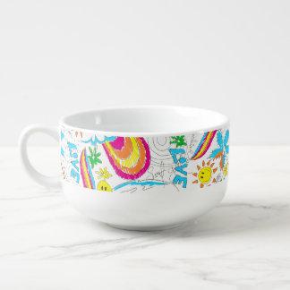 Surf beach love soup mug