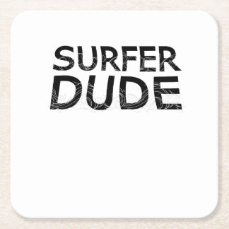 Surf  beach loving surfers skaters surfing board square paper coaster