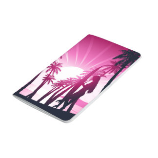 Surf board at sunrise journal