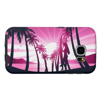Surf board at sunrise samsung galaxy s6 cases