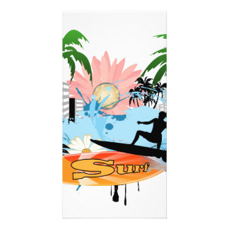 Surf boarder photo greeting card