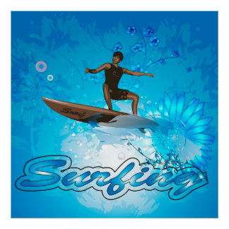 Surf Boarder Print