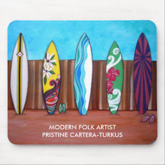 SURF BOARDS MOUSE PAD