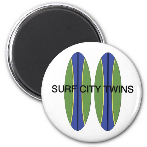 Surf City Twin Surfboards Magnet