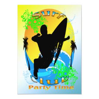 "Surf Club - Surfer Invitation 5"" X 7"" Invitation Card"